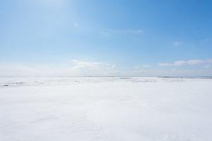 野付半島の氷平線