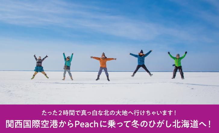 関西国際空港からPeachに乗って冬のひがし北海道へ!